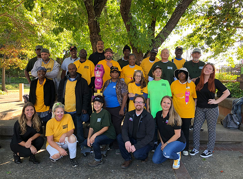 We are Downtown Streets Team. Working to end homelessness through the dignity of work.